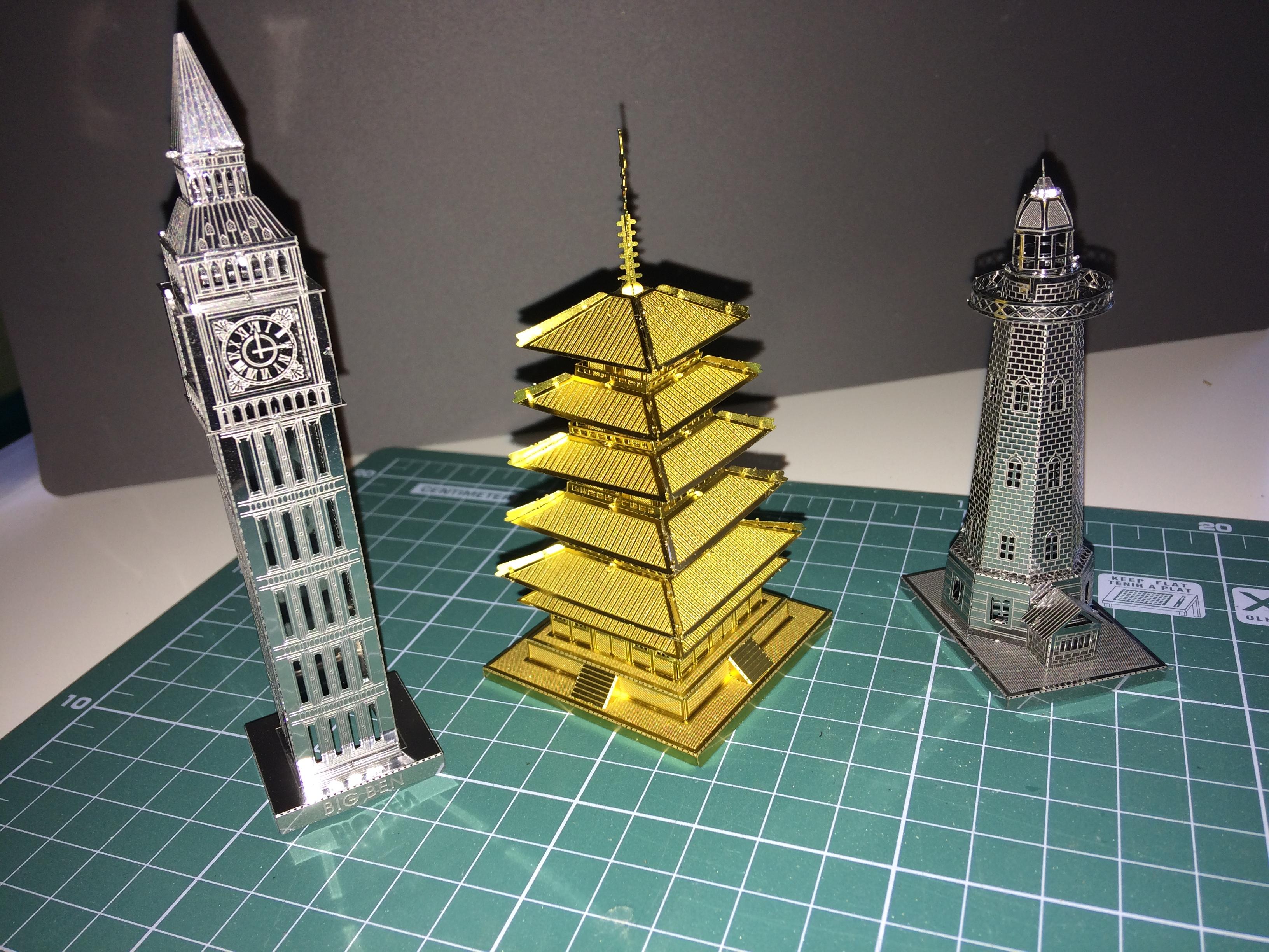 3D металлический паззл
